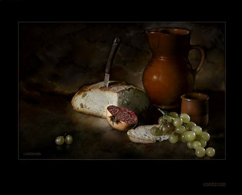 uvas pan y vino