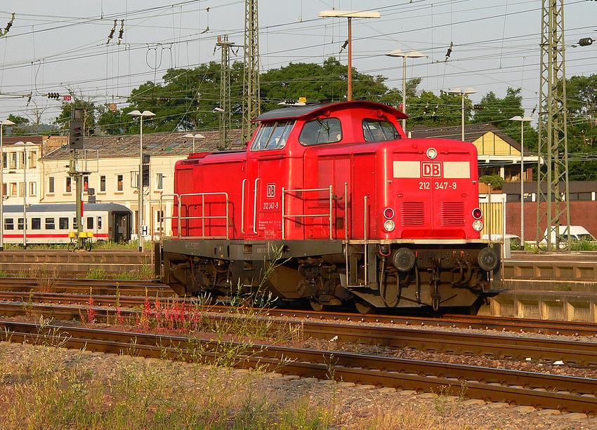 V 100 im Bahnhof Saarbrücken