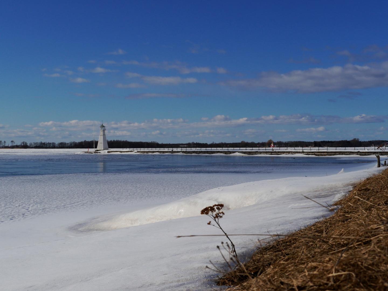 Vadstena Hafen im Winter