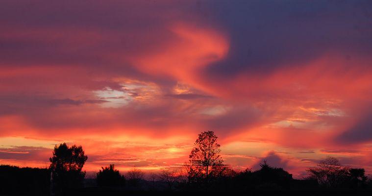 vague du ciel colorée