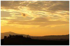 Val d'Orcia - Toscana um 07:30 Uhr