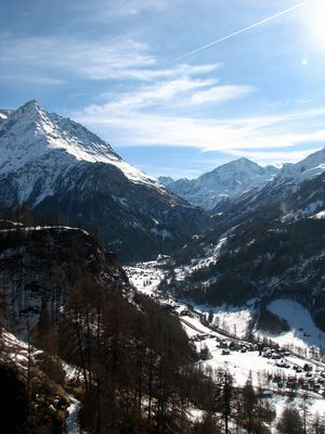 Valée dans le Valais Suisse