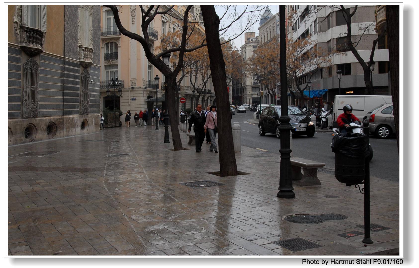 Valencia, Calle mojada