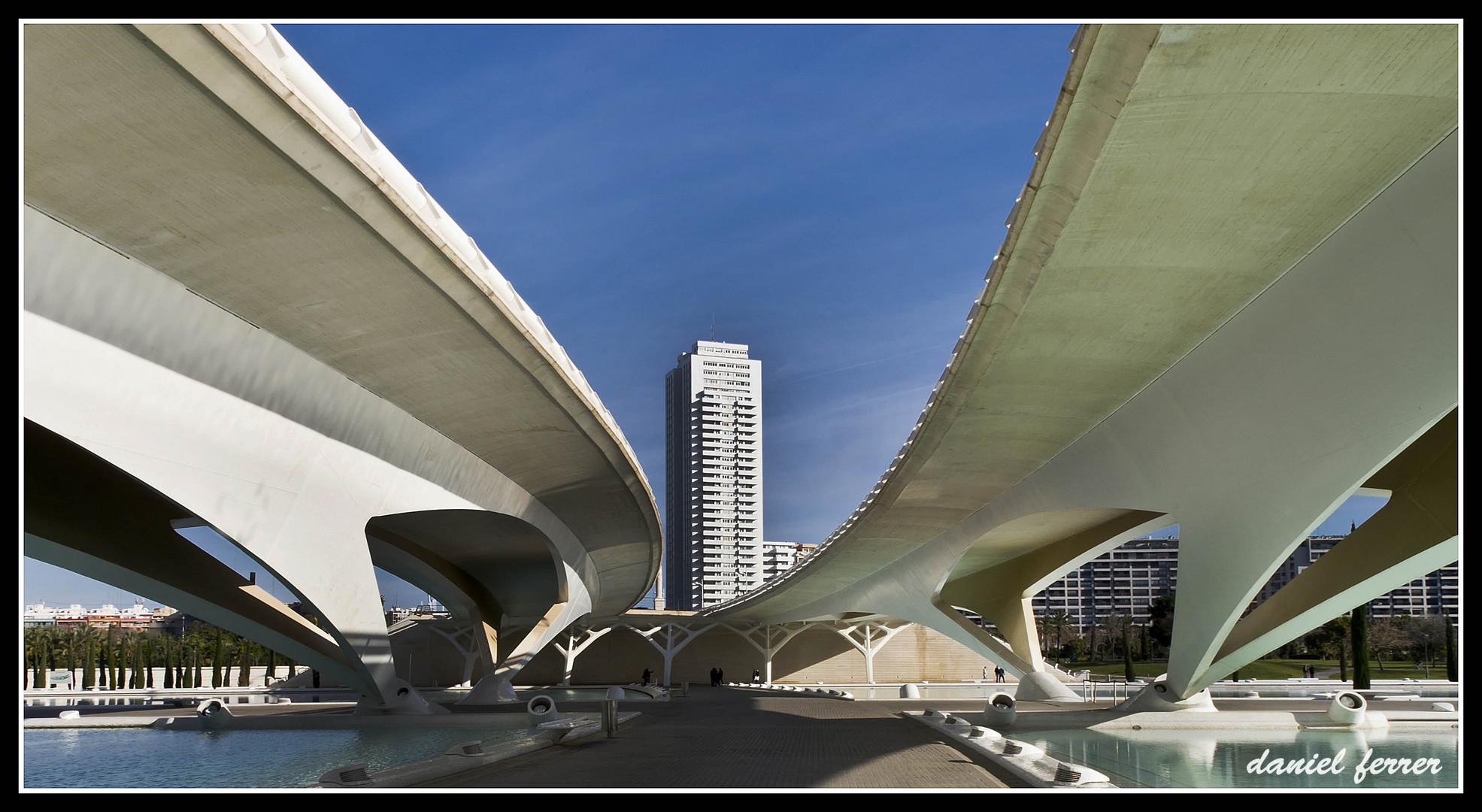Valencia, zona del palau de les arts