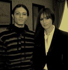 Valerio e Monica Bellucci
