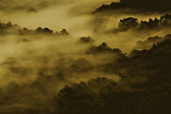 Valle del Turano all'alba