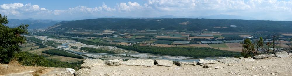 Vallée de la Durance à Ganagobie