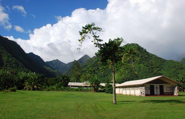 Vallée vue de Teahupoo
