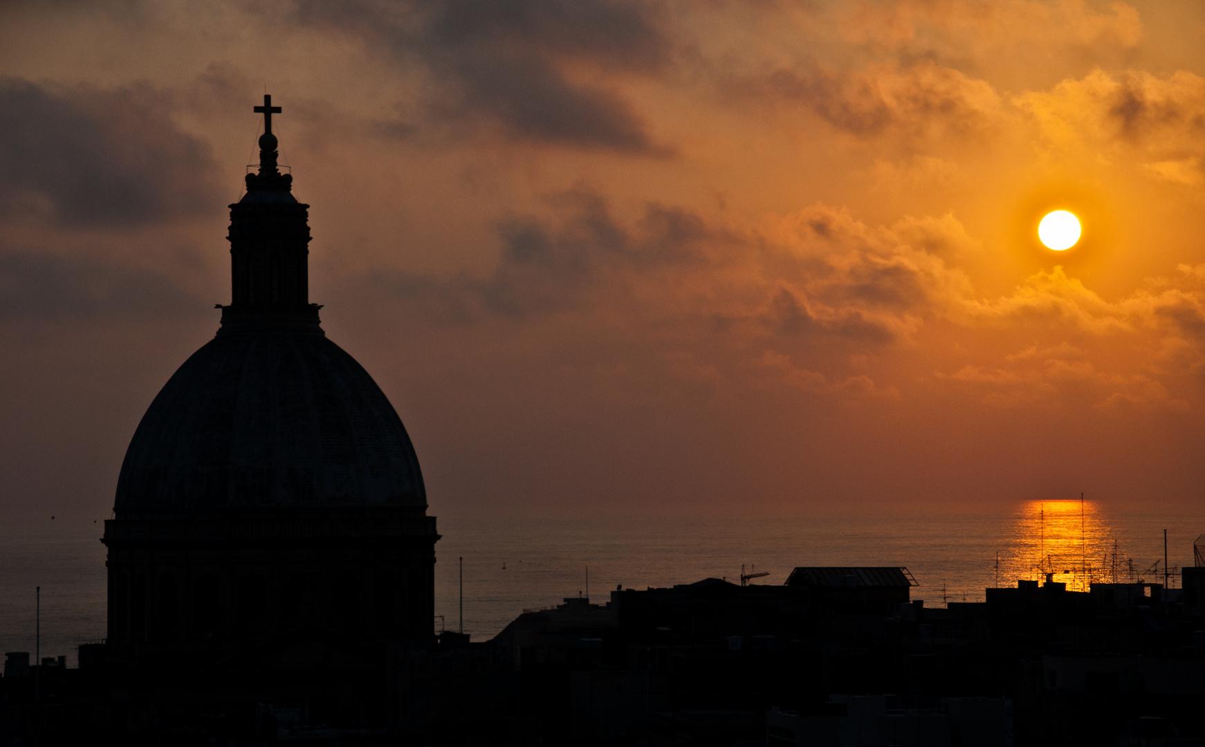 Valletta Sonnenaufgang