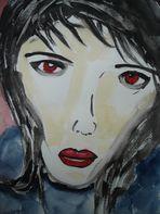 Vamp mit roten Augen