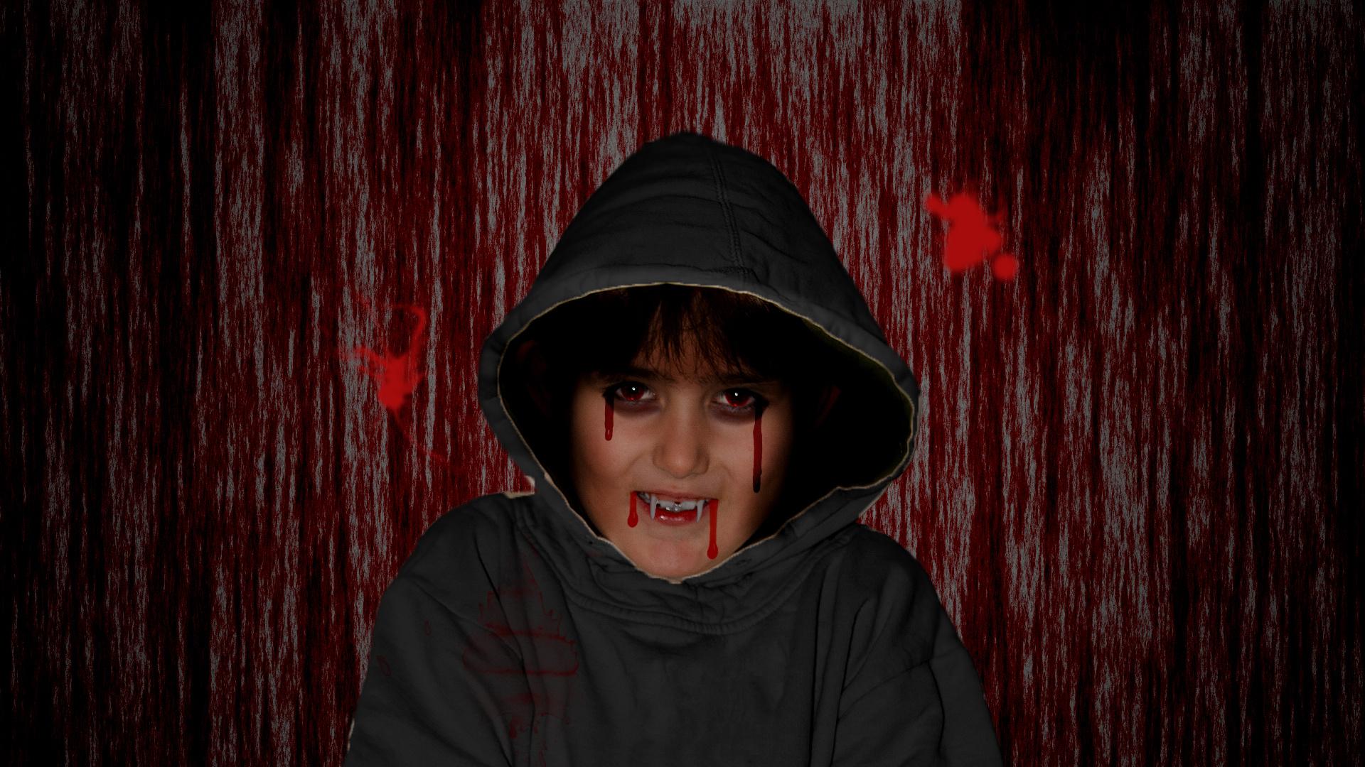 Vampir an Halloween