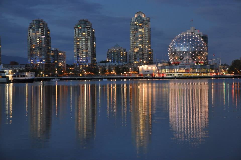 Vancouver at the evening