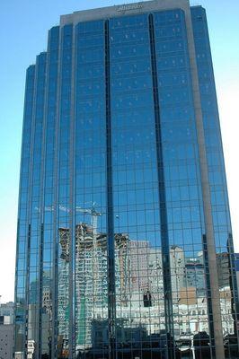 Vancouver Downtown im Spiegel