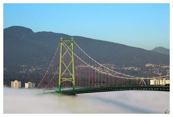 Vancouver im Nebel