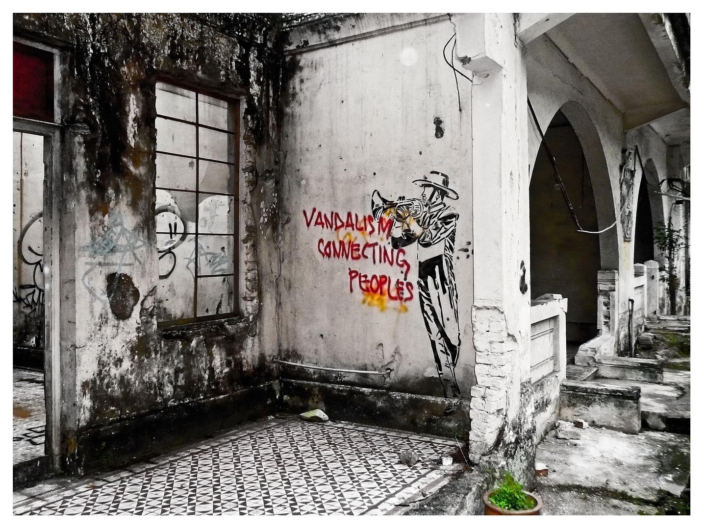 vandalism connecting peoples?