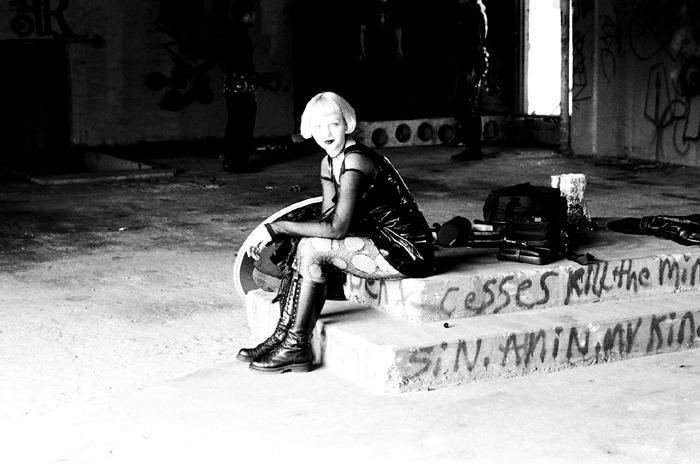 Vanessa in abandoned building