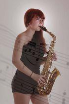 Vanessa mit Saxophon