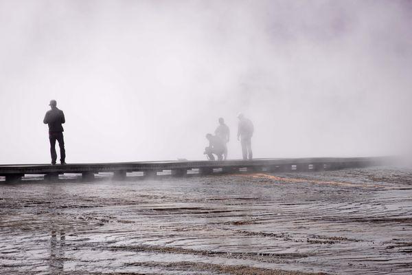 Vapores naturales en Yellowstone