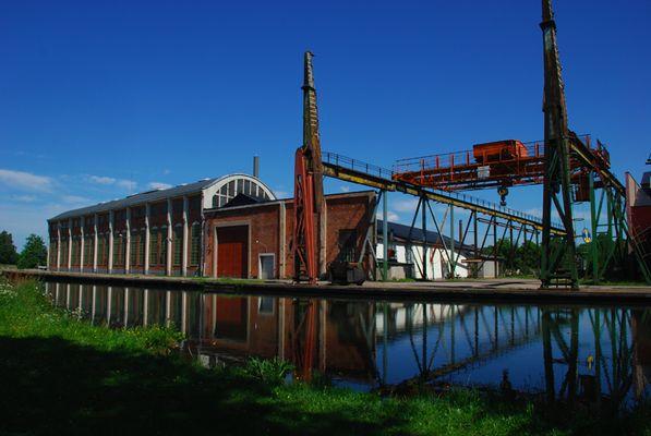 Varfsgatan, altes Werftgebiet in Motala
