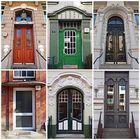 Variationen von Haustüren innerhalb eines Stadtteils