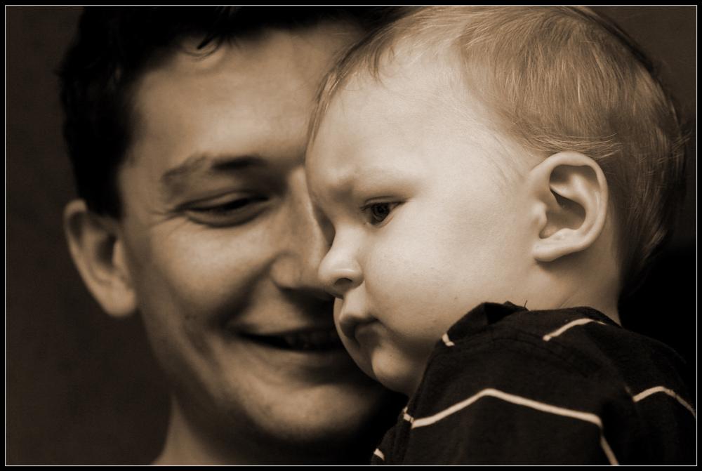 Vater (Björn) und Sohn (Finn)