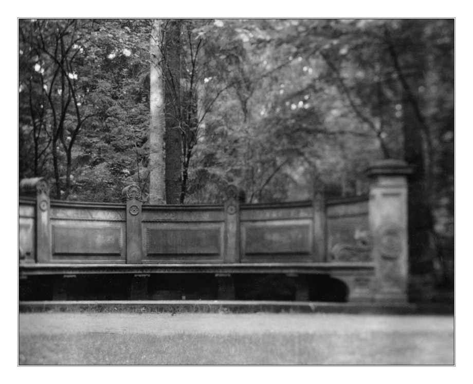 Vater Gerhards Ruh - Bank im Bürgerpark