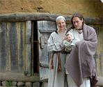 Vater, Mutter und ein unwirsches Kind