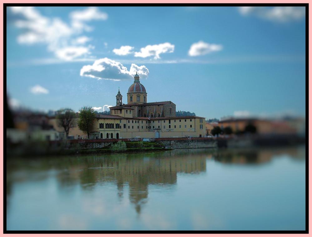 Veduta di Firenze dal fiume Arno