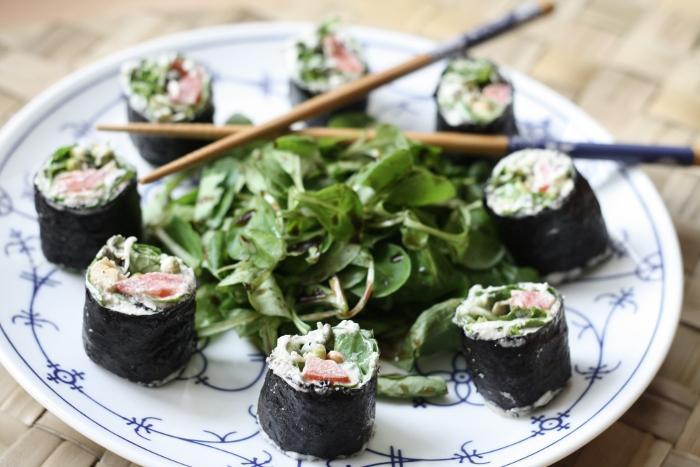 veganes Rohkost Sushi
