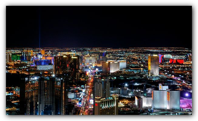 Vegas-Nightview vom Stratosphere-Tower