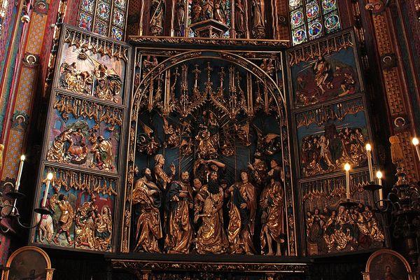 Veit-Stoß-Altar in der Marienkirche in Krakau