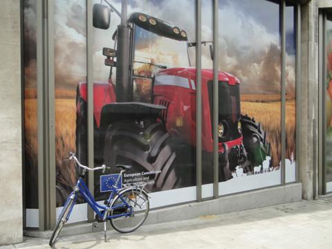 vélo et tracteur