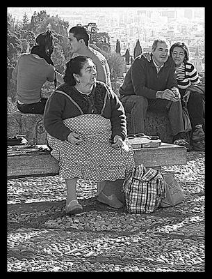 Vendedora de castañuelas en el Albaycín (Tres edades de la vida)