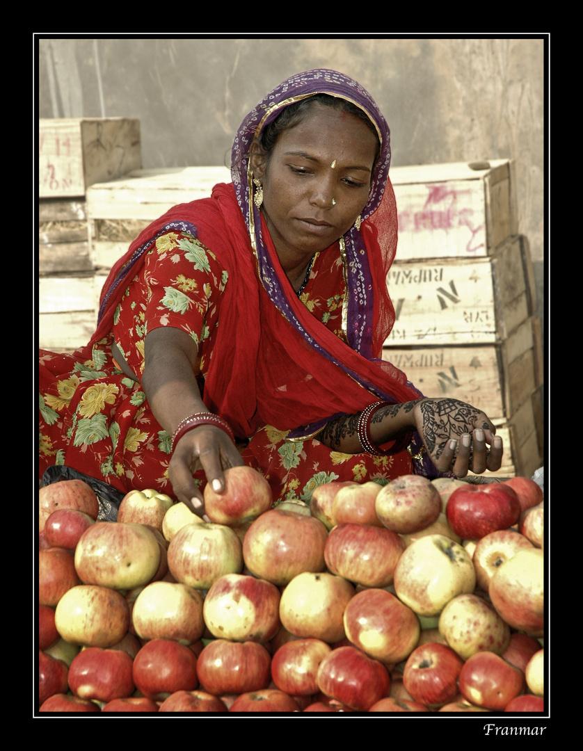 Vendedora de manzanas
