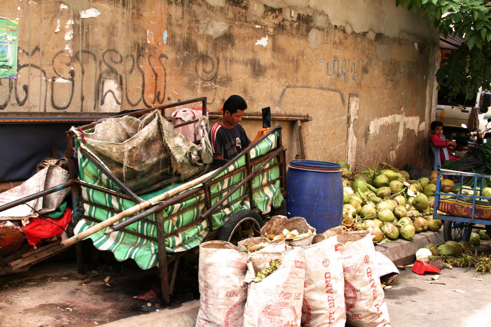 Vendeurs de noix de coco
