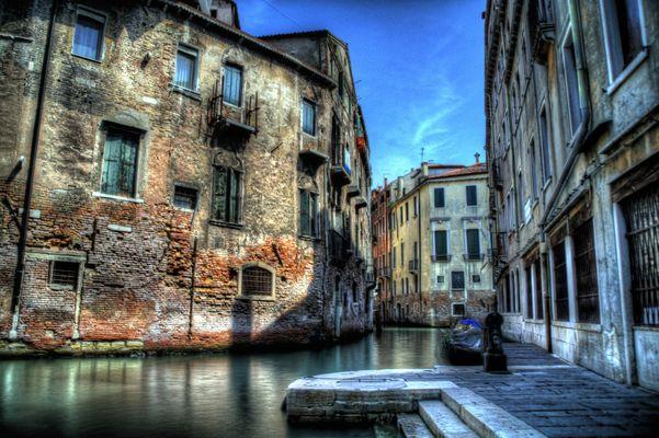 Venedig Anlegestelle im Hinterhof