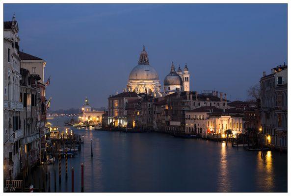 Venedig - Ausfahrt am späten Nachmittag aus dem Canale Grande...