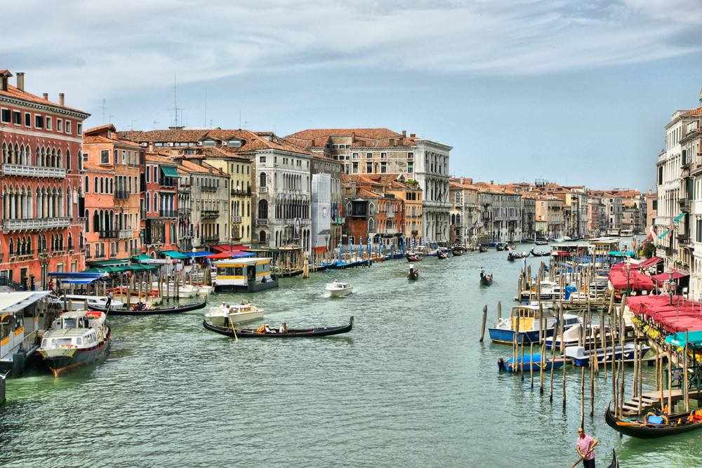 Venedig - Blick von der Rialtobrücke