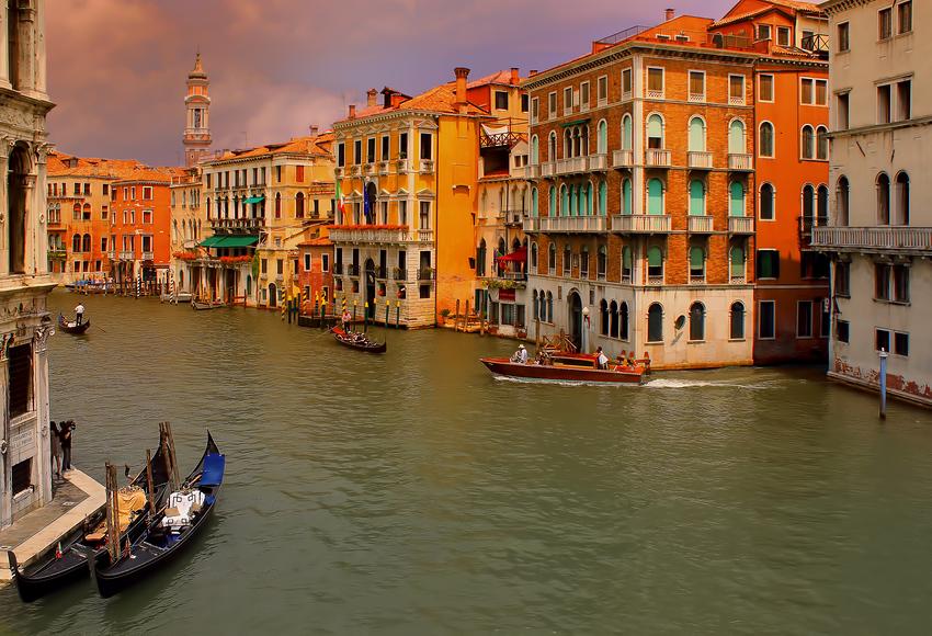 Venedig-Blick von Rialto Brücke