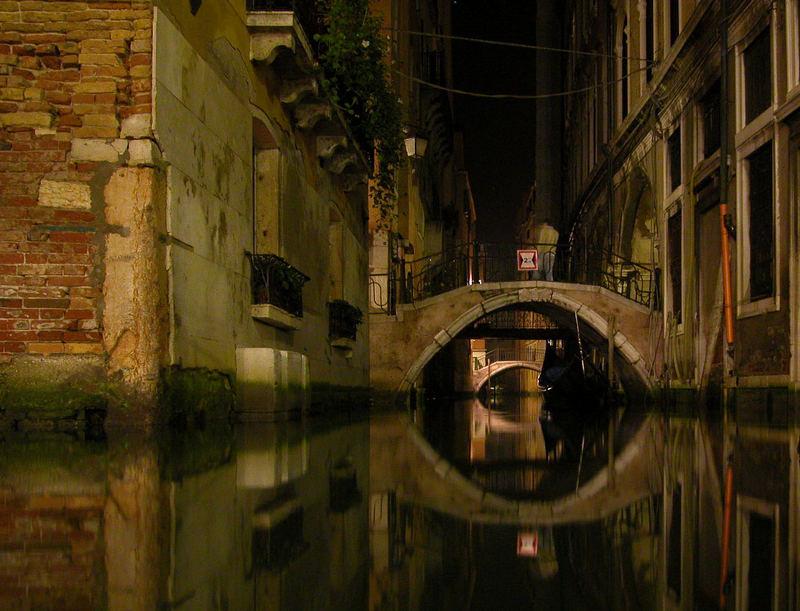 Venedig, Brücken bei Nacht