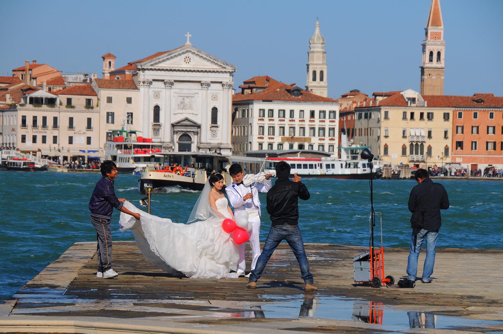 Venedig - Fotoshooting auf San Giorgio Maggiore