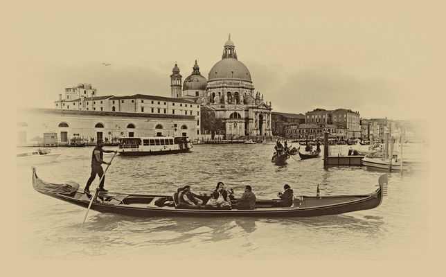 Venedig, Gondeln auf dem Canal Grande