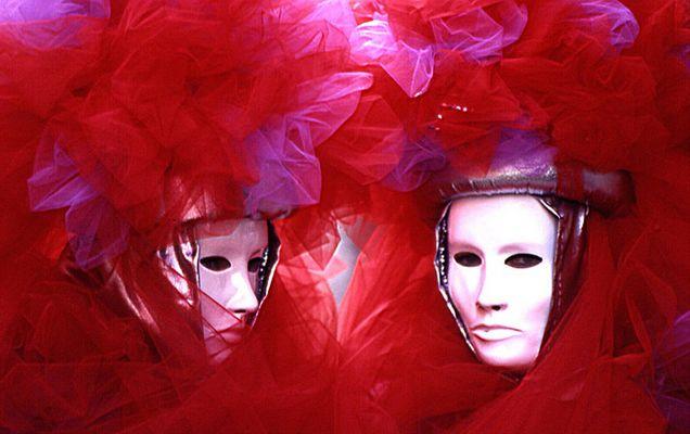 Venedig Karneval rot