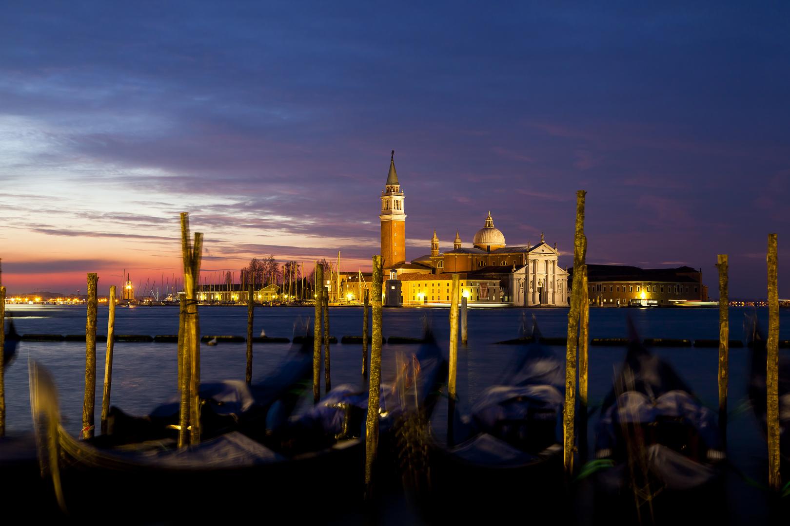 Venedig Markusplatz mit Blick auf San Giorgio