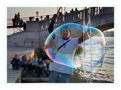 Venedig Seifenblasen Künstler
