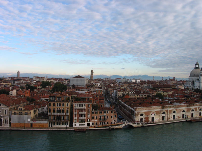 Venedig vom Schiff aus gesehen