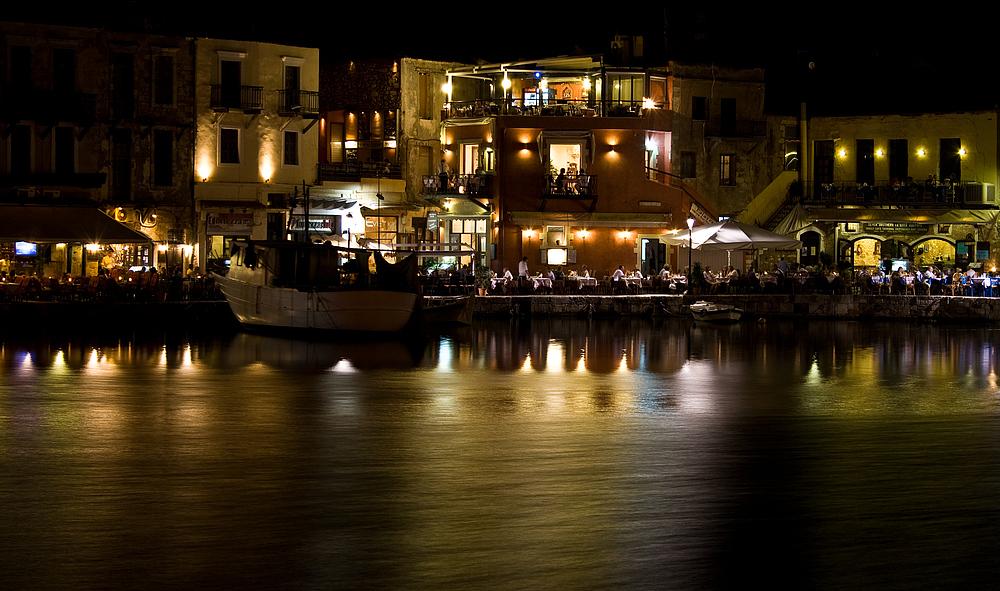 Venetian harbour in Rethymnon (crete)