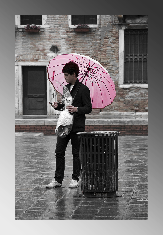 Venezia - der rosa Schirm...