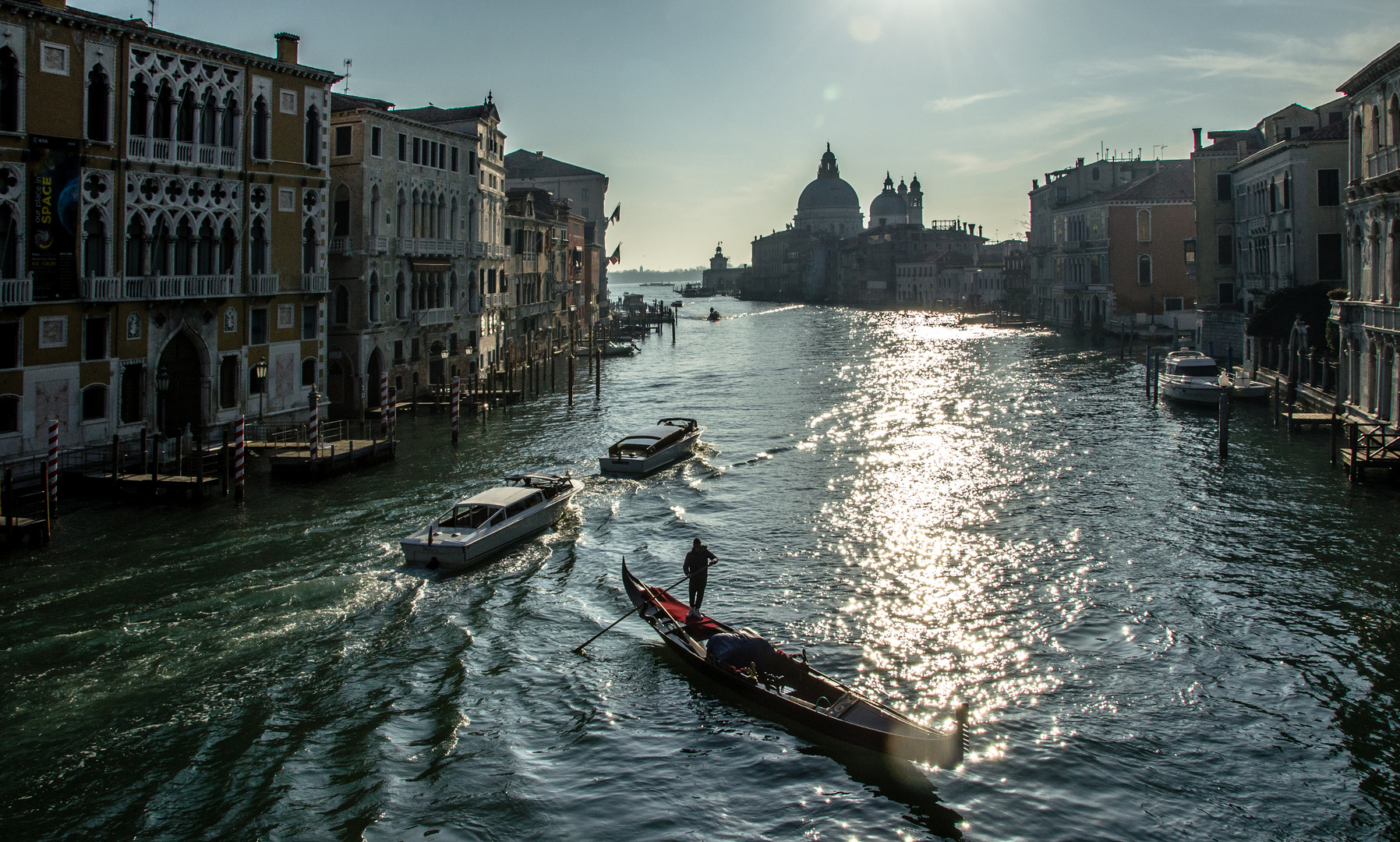 Venice - Canal Grande with Gondola