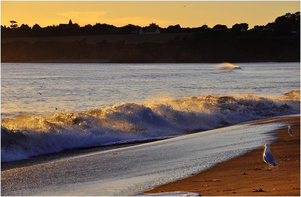 vent contraire sur les vagues